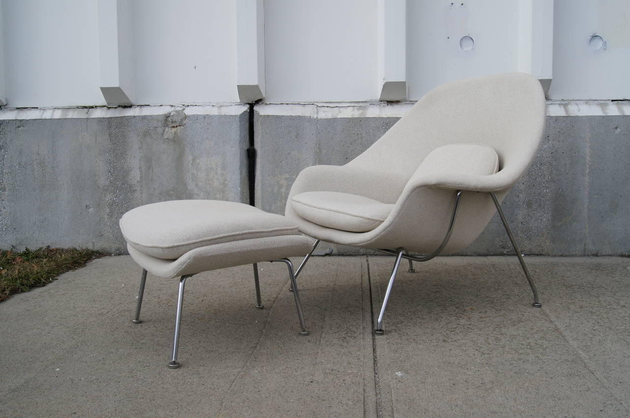Womb chair without ottoman womb chair u0026 ottoman womb chair and foot stool by eero saarinen - Womb chair knock off ...