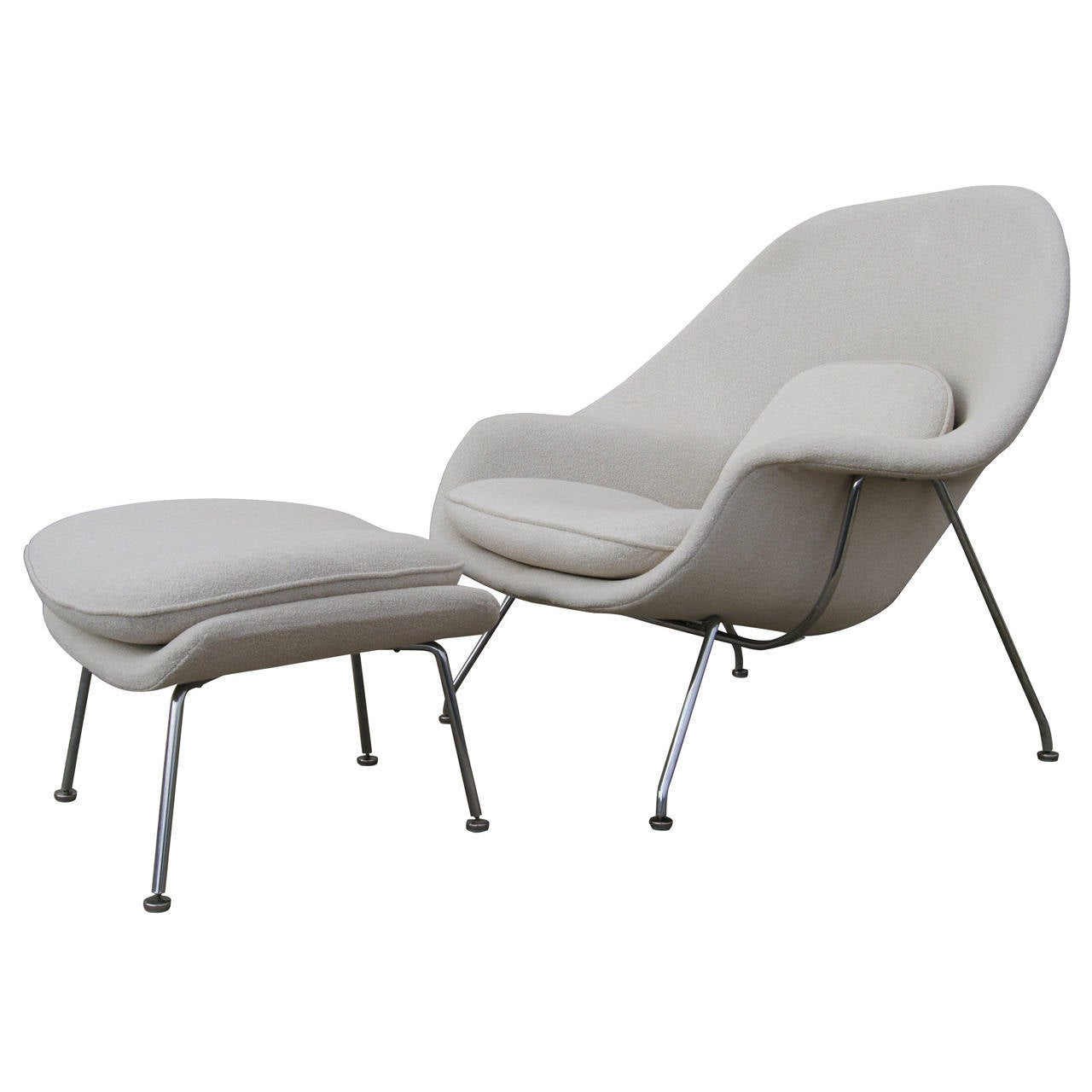 Womb Chair And Ottoman By Saarinen For Knoll At 1stdibs