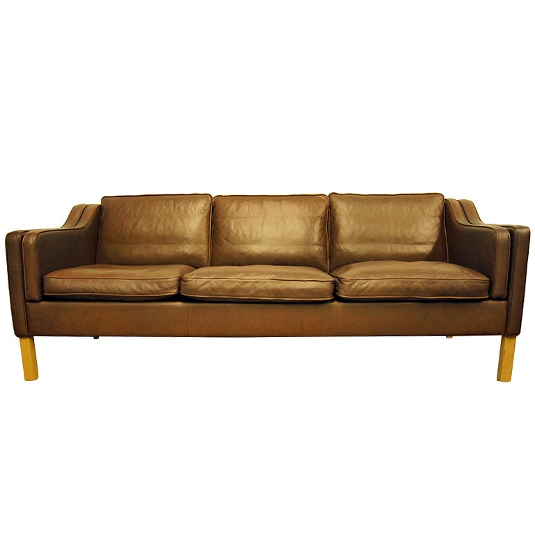 Xxx Brown Leather Sofa After Mogensen