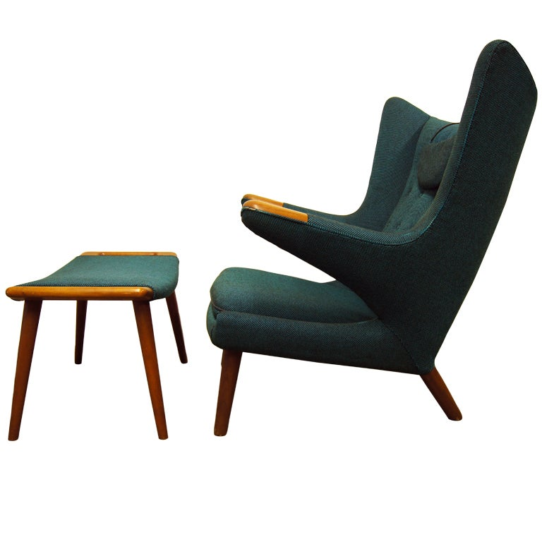 Papa Bear Chair and Ottoman by Hans Wegner at 1stdibs