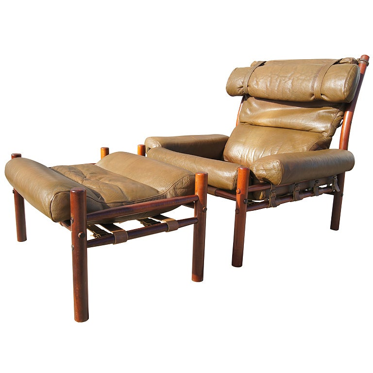 Inka Lounge Chair and Ottoman by Arne Norell at 1stdibs
