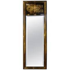 Acid-Etched Brass Mirror by Bernhard Rohne for Mastercraft