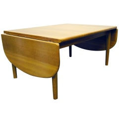 Oak Drop-Leaf Coffee Table by Hans Wegner for GETAMA