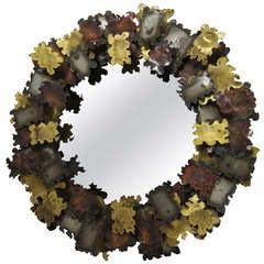 Sculptural Mirror attributed to Silas Seandel