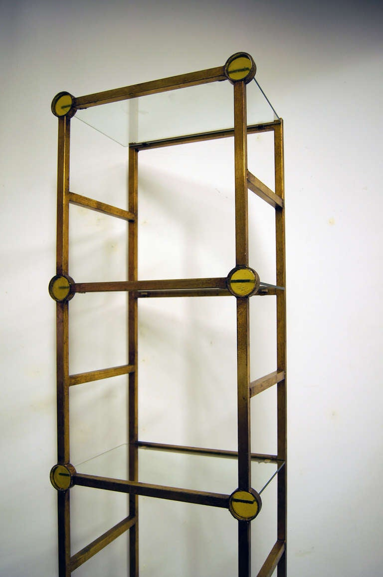 Italian gilded iron tag re at 1stdibs - Etagere 8 cases ikea ...