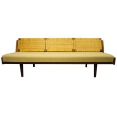 Oak and Rattan Daybed by Hans Wegner for Getama