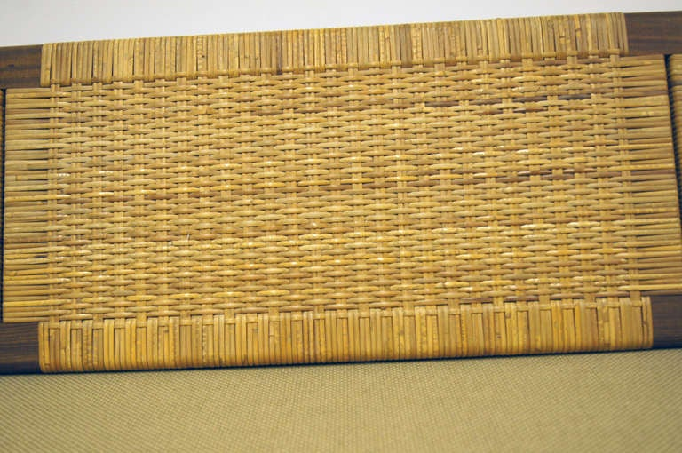 Mid-20th Century Oak and Rattan Daybed by Hans Wegner for GETAMA For Sale