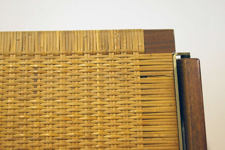 Upholstery Oak and Rattan Daybed by Hans Wegner for GETAMA For Sale