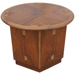 Inlaid Walnut Side Table by Andre Bus for Lane Acclaim