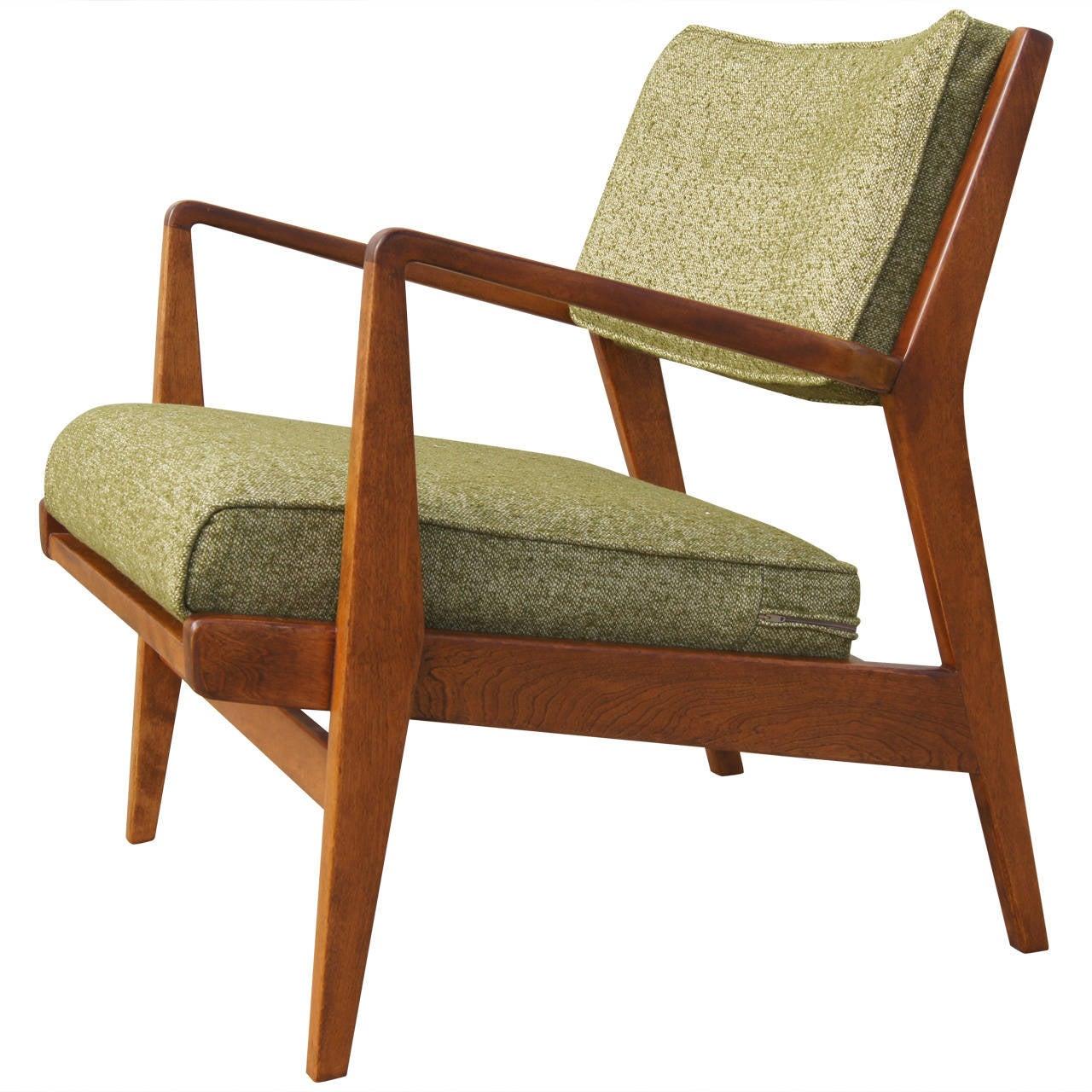 Bon Low Armchair, Model U 430, In Walnut By Jens Risom For Sale