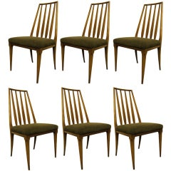 Set of Six Dining Chairs by John Widdicomb