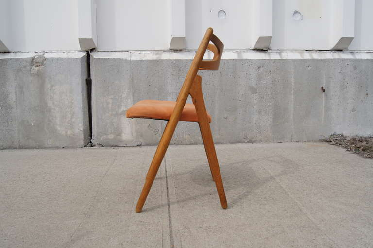 Set of Six Oak Ch-29 Sawbuck Dining Chairs by Hans Wegner for Carl Hansen For Sale 1