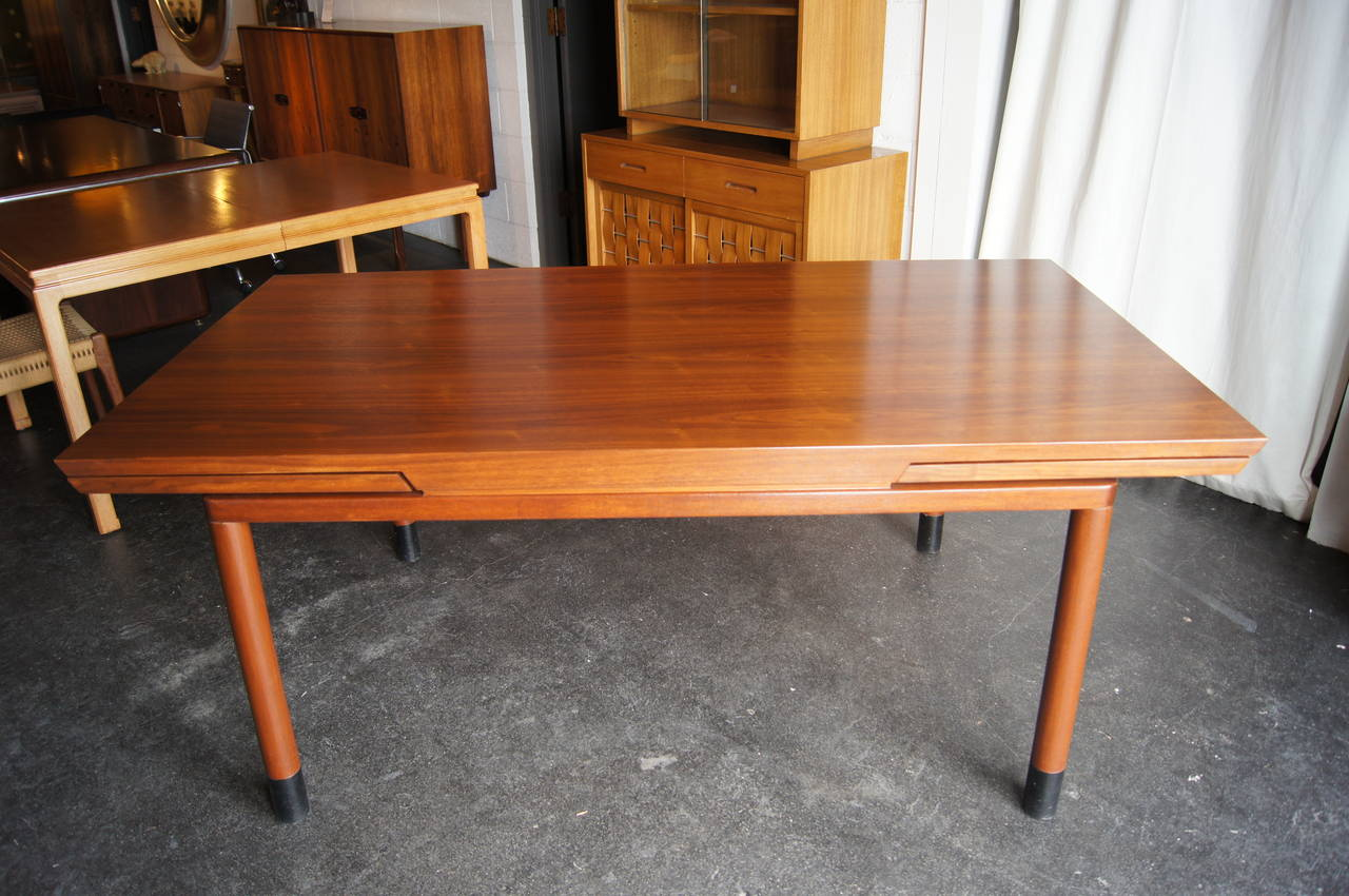 Edward Wormley Designed This Gorgeous Walnut Dining Table For Dunbar In The  1950s. Two Extension