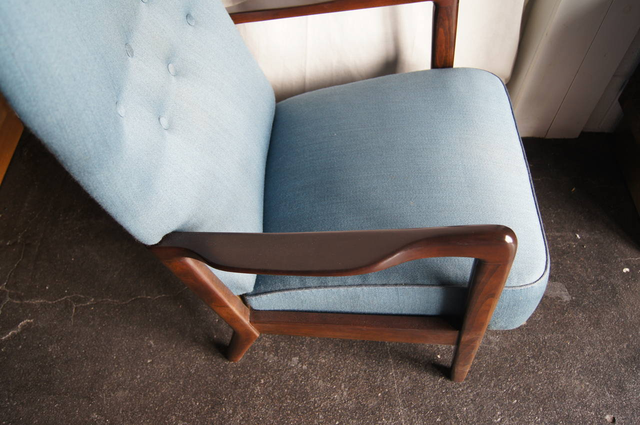 High Back Armchair by Fritz Hansen In Excellent Condition For Sale In Boston, MA