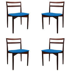 Set of Four Rosewood Dining Chairs by Harry Ostergaard