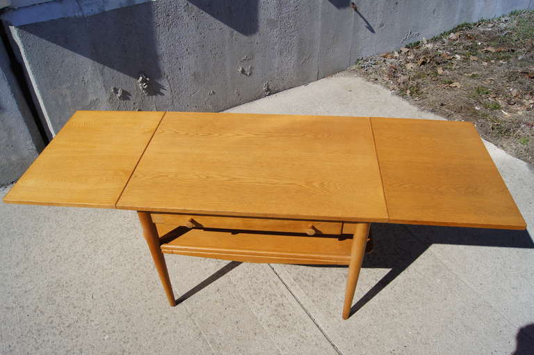 Drop Leaf Sewing Table After Hans Wegner 3