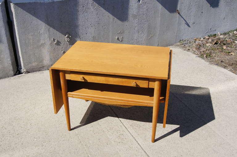 Drop Leaf Sewing Table After Hans Wegner 2