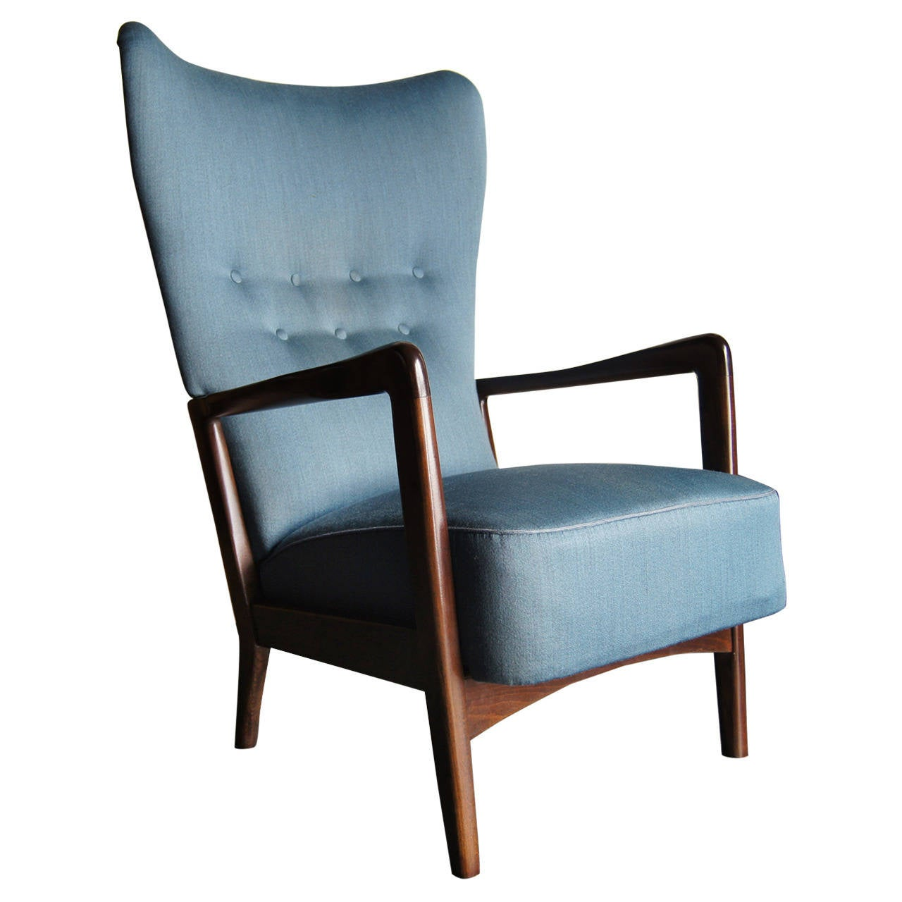 High back armchair by fritz hansen at 1stdibs for Armchair with high back