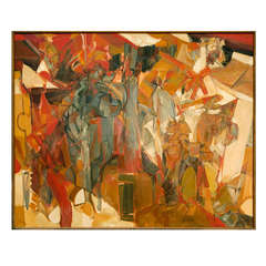 "Large ""Chorus"" Oil Painting by Jack Wolfe, 1959"