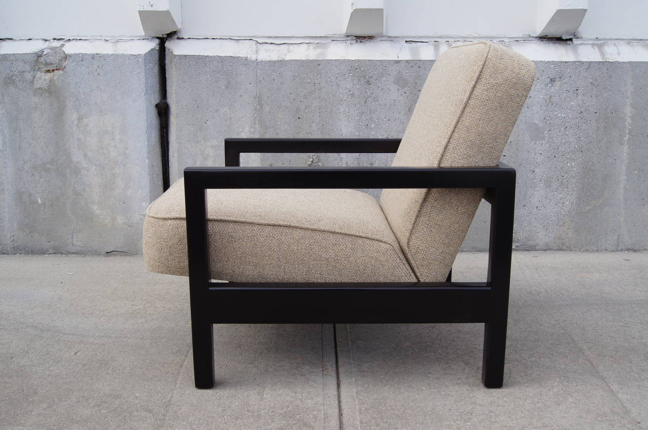 Open-Arm Ebonized Lounge Chair by George Nelson for Herman Miller In Excellent Condition For Sale In Boston, MA