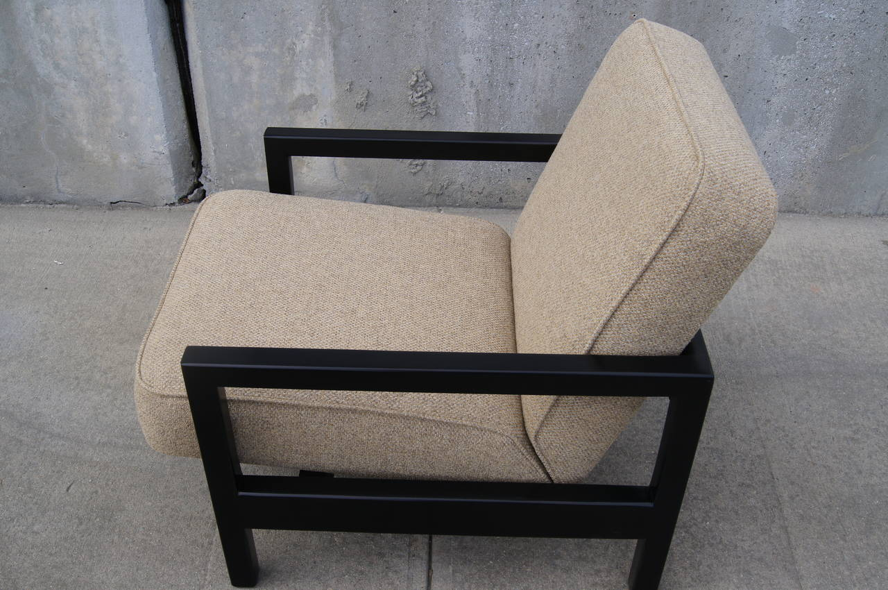 Mid-20th Century Open-Arm Ebonized Lounge Chair by George Nelson for Herman Miller For Sale