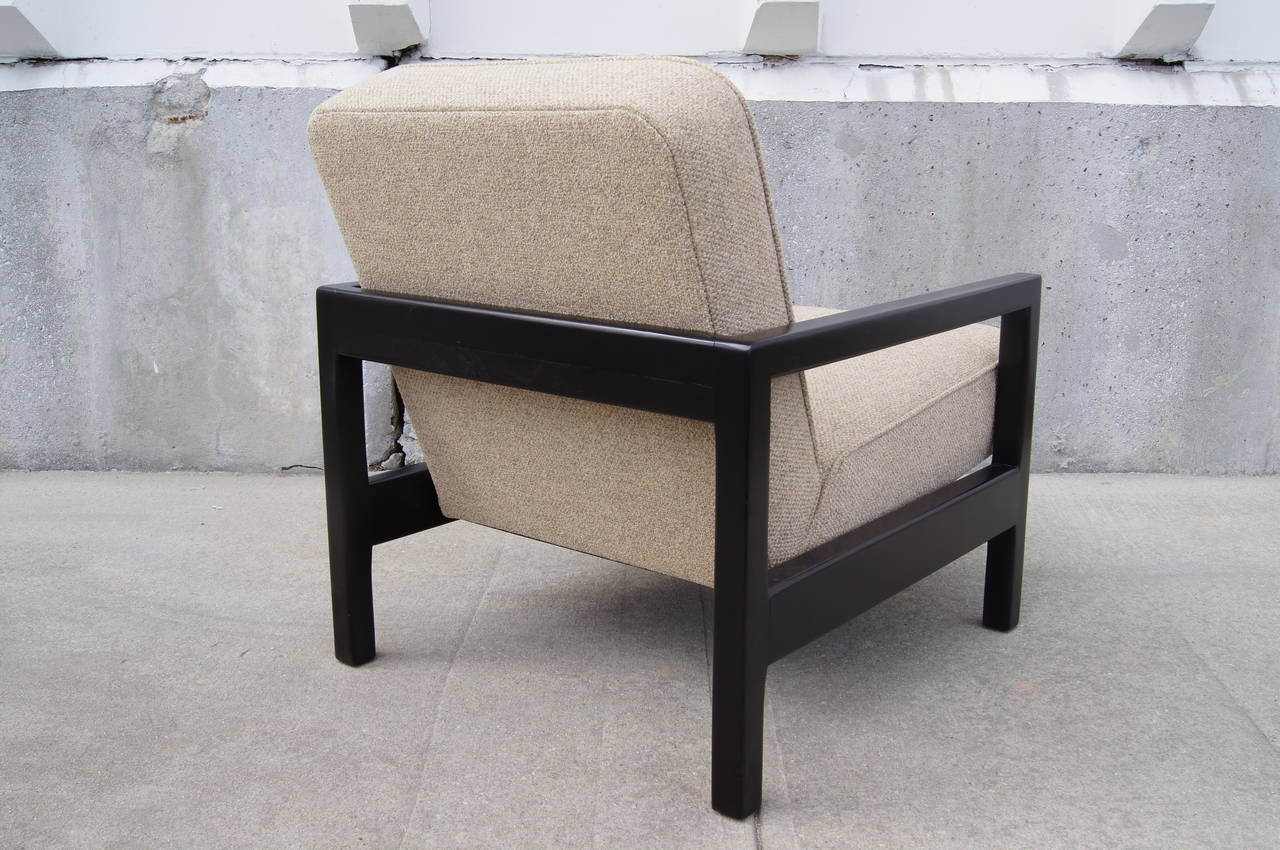 Mid-Century Modern Open-Arm Ebonized Lounge Chair by George Nelson for Herman Miller For Sale