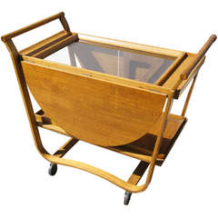 Drop-Leaf Tea Cart by Edward Wormley for Dunbar