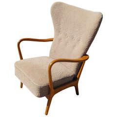 Scandinavian Highback Armchair