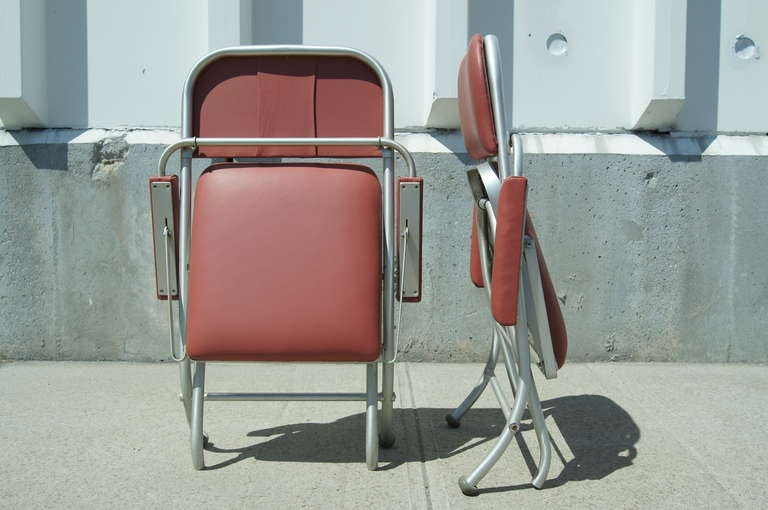 Art Deco Pair of Folding Chairs by Warren McArthur For Sale