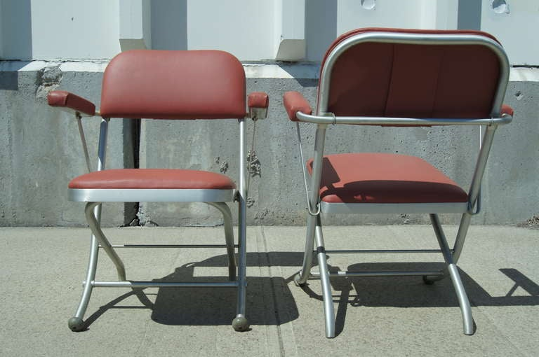 American Pair of Folding Chairs by Warren McArthur For Sale