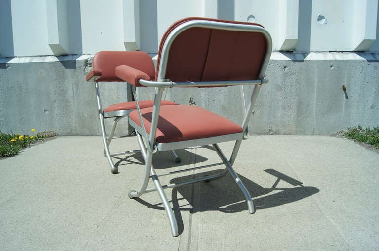 Pair of Folding Chairs by Warren McArthur In Good Condition For Sale In Boston, MA