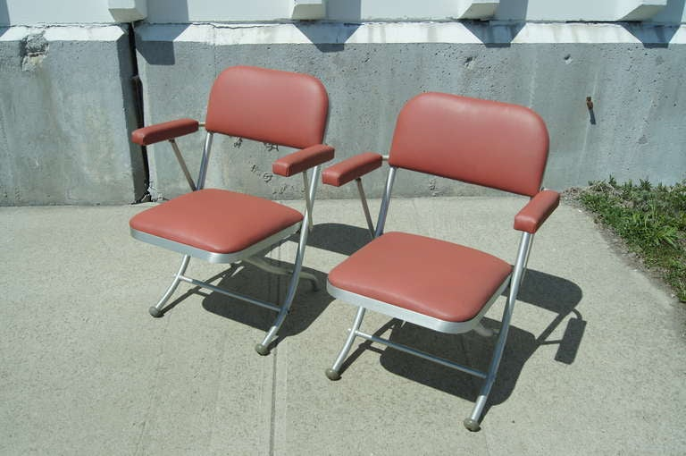 Pair of Folding Chairs by Warren McArthur For Sale 2