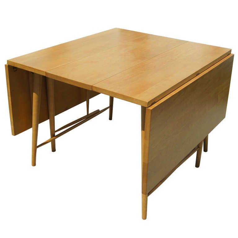 Drop leaf dining table by paul mccobb at 1stdibs - Foldable dinning table ...