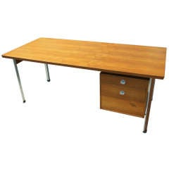Teak Desk with Canted Legs by Finn Juhl for France & Son
