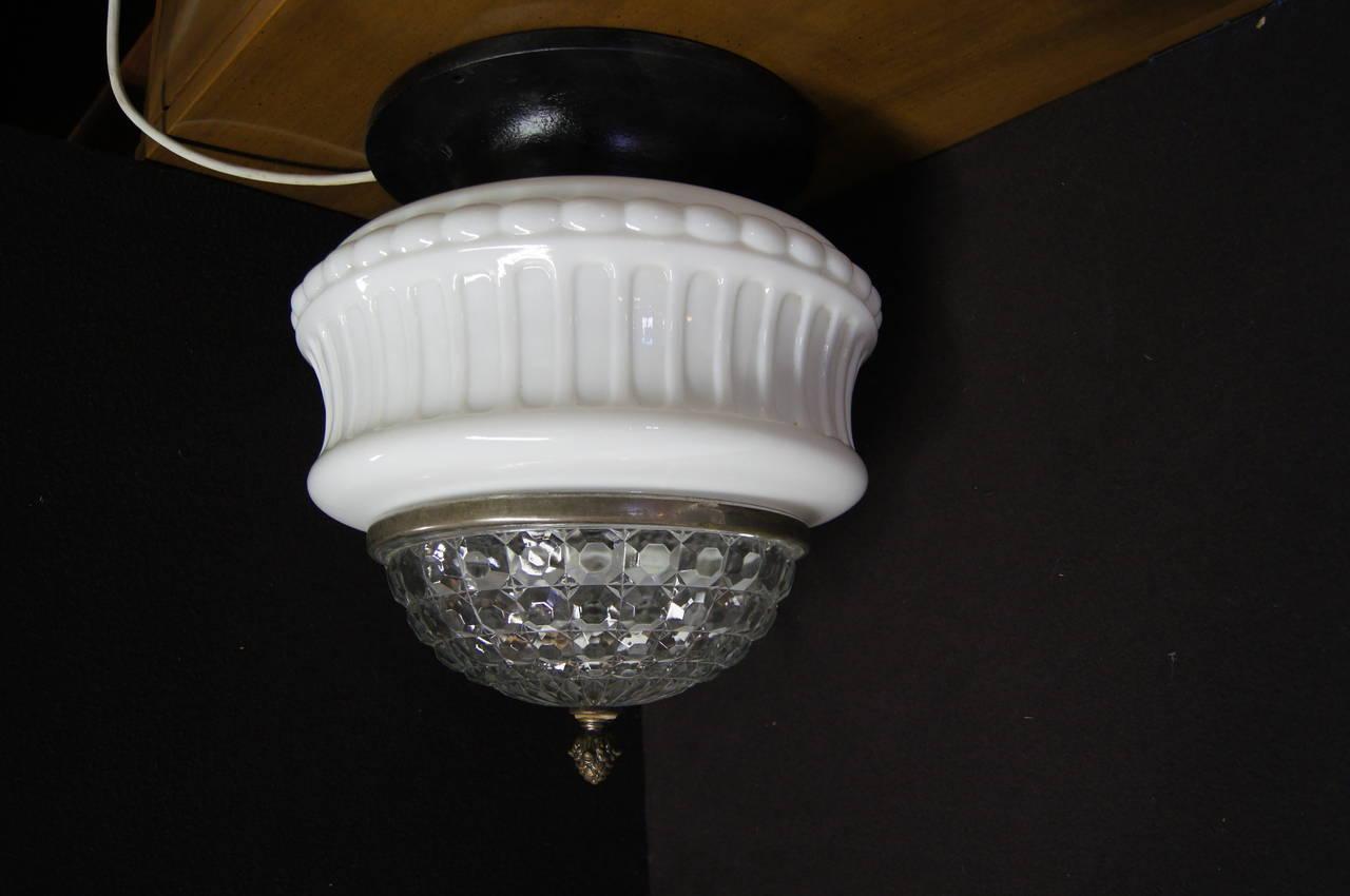 Art Deco Italian Ceiling Lamp For Sale 1