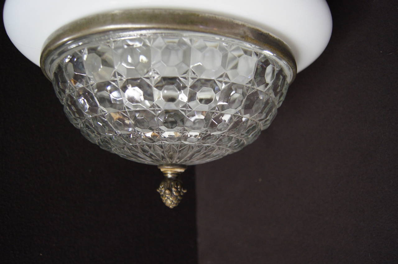 Early 20th Century Art Deco Italian Ceiling Lamp For Sale