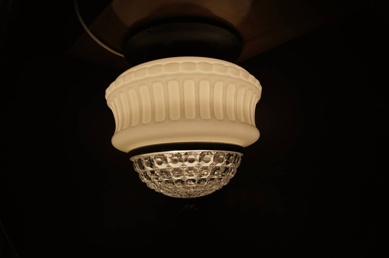 Pressed Art Deco Italian Ceiling Lamp For Sale