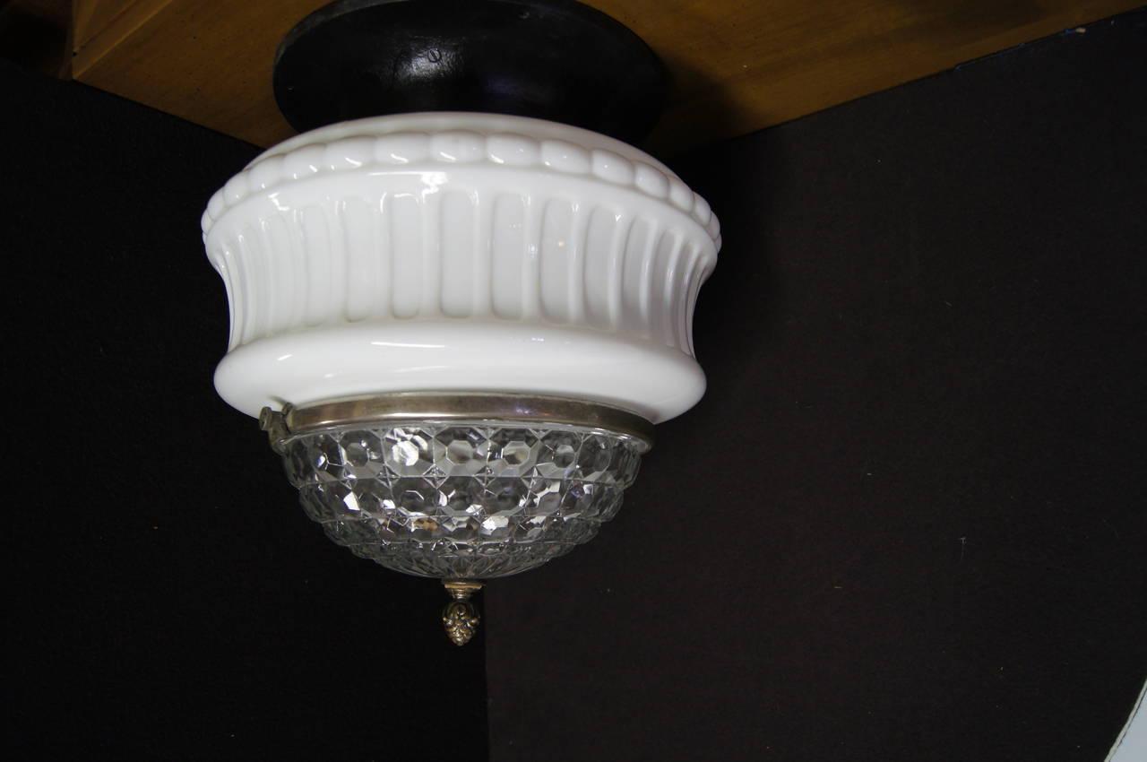 Art Deco Italian Ceiling Lamp In Good Condition For Sale In Boston, MA