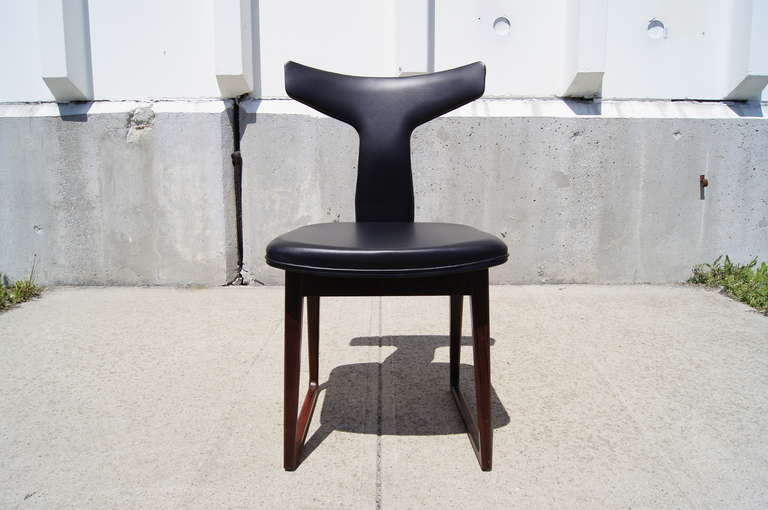 Rosewood Dining Table and Six Chairs by Arne Vodder For Sale 1