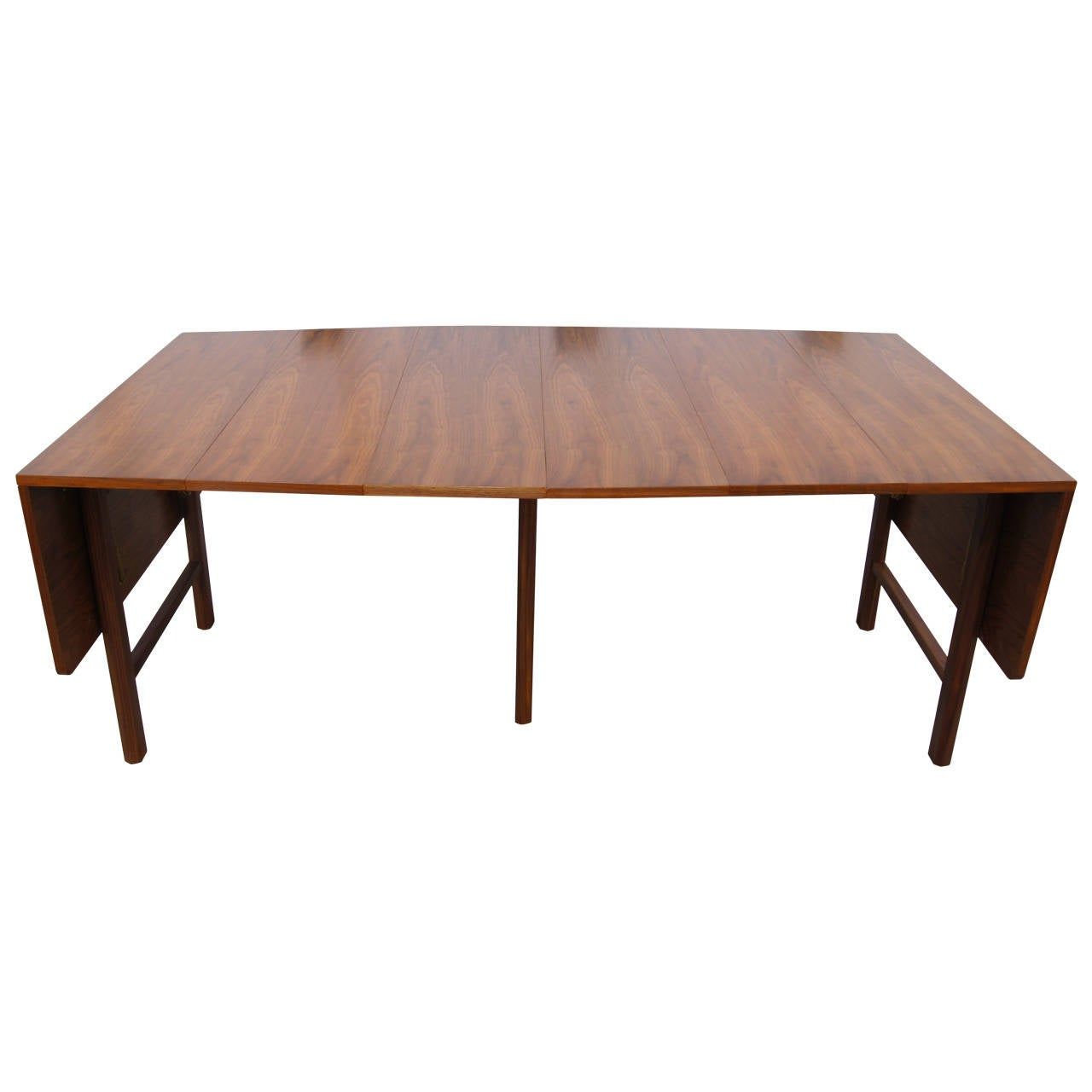 Drop leaf extension dining table by edward wormley for for Drop leaf dining table
