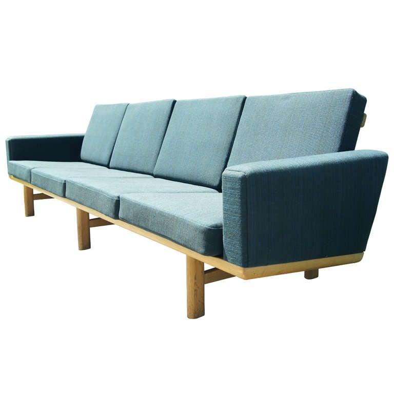 four seater sofa by hans wegner for getama at 1stdibs. Black Bedroom Furniture Sets. Home Design Ideas