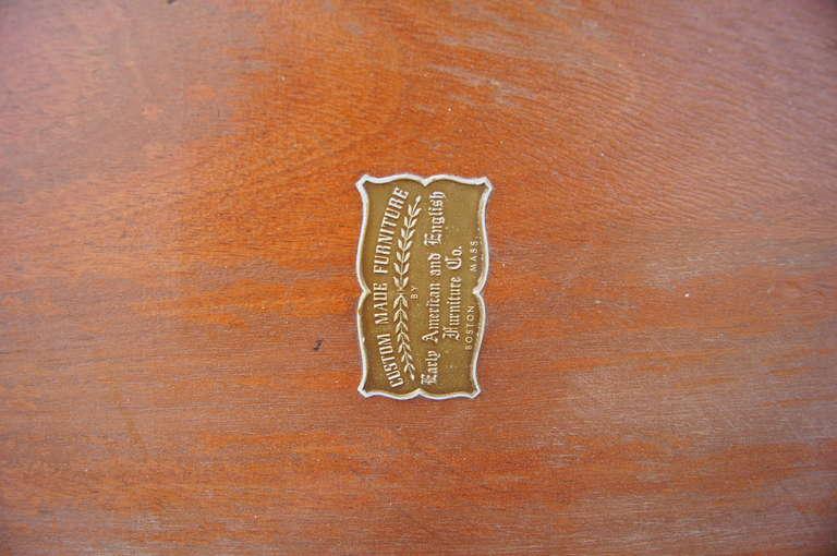 Custom Walnut Burl Wood Parsons Coffee Table For Sale 1
