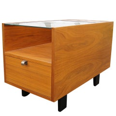 Walnut Side Table with Planters by George Nelson for Herman Miller