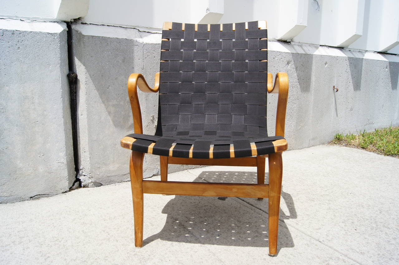 Eva Armchair by Bruno Mathsson In Good Condition For Sale In Boston, MA