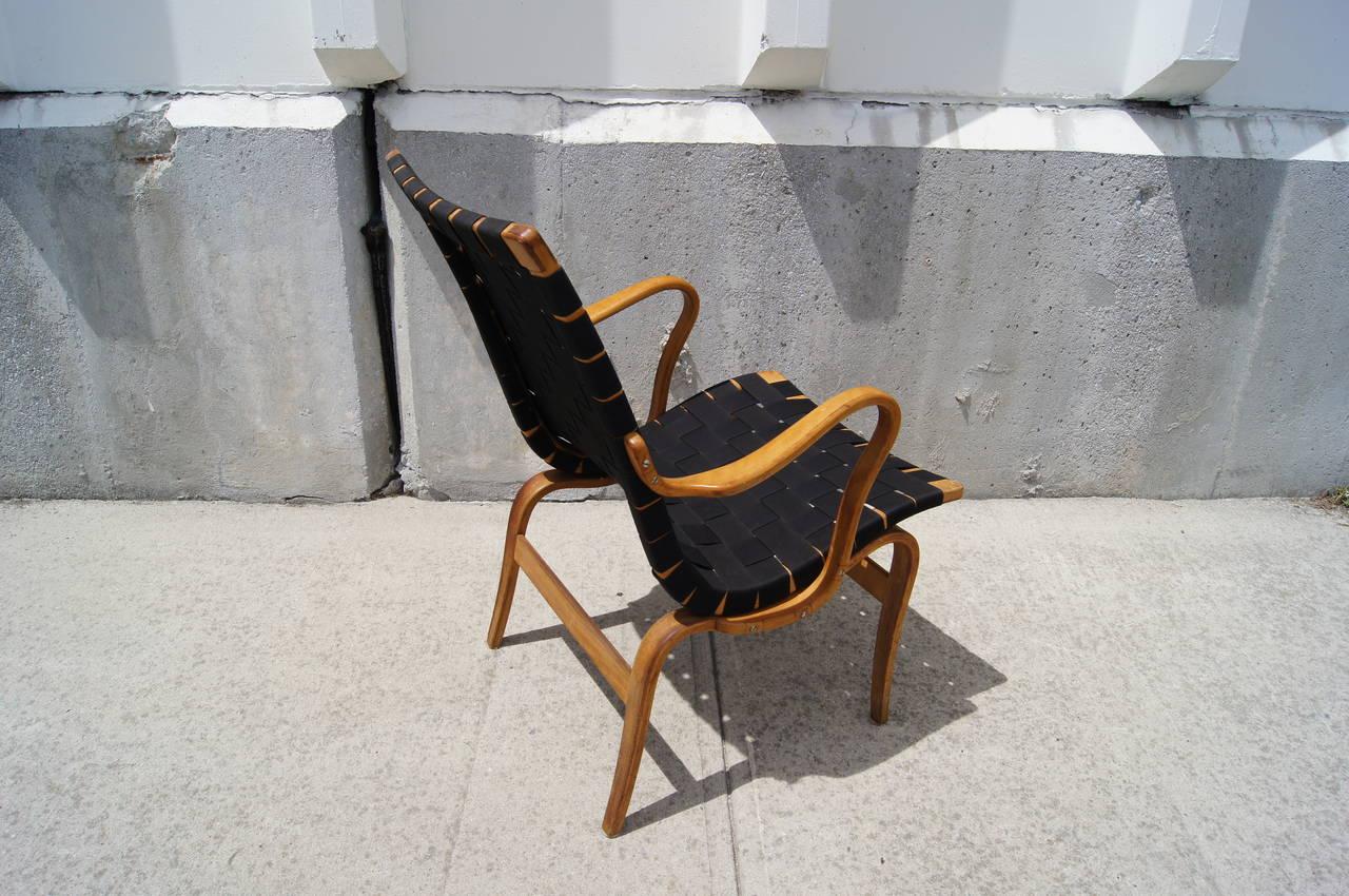 Swedish Eva Armchair by Bruno Mathsson For Sale