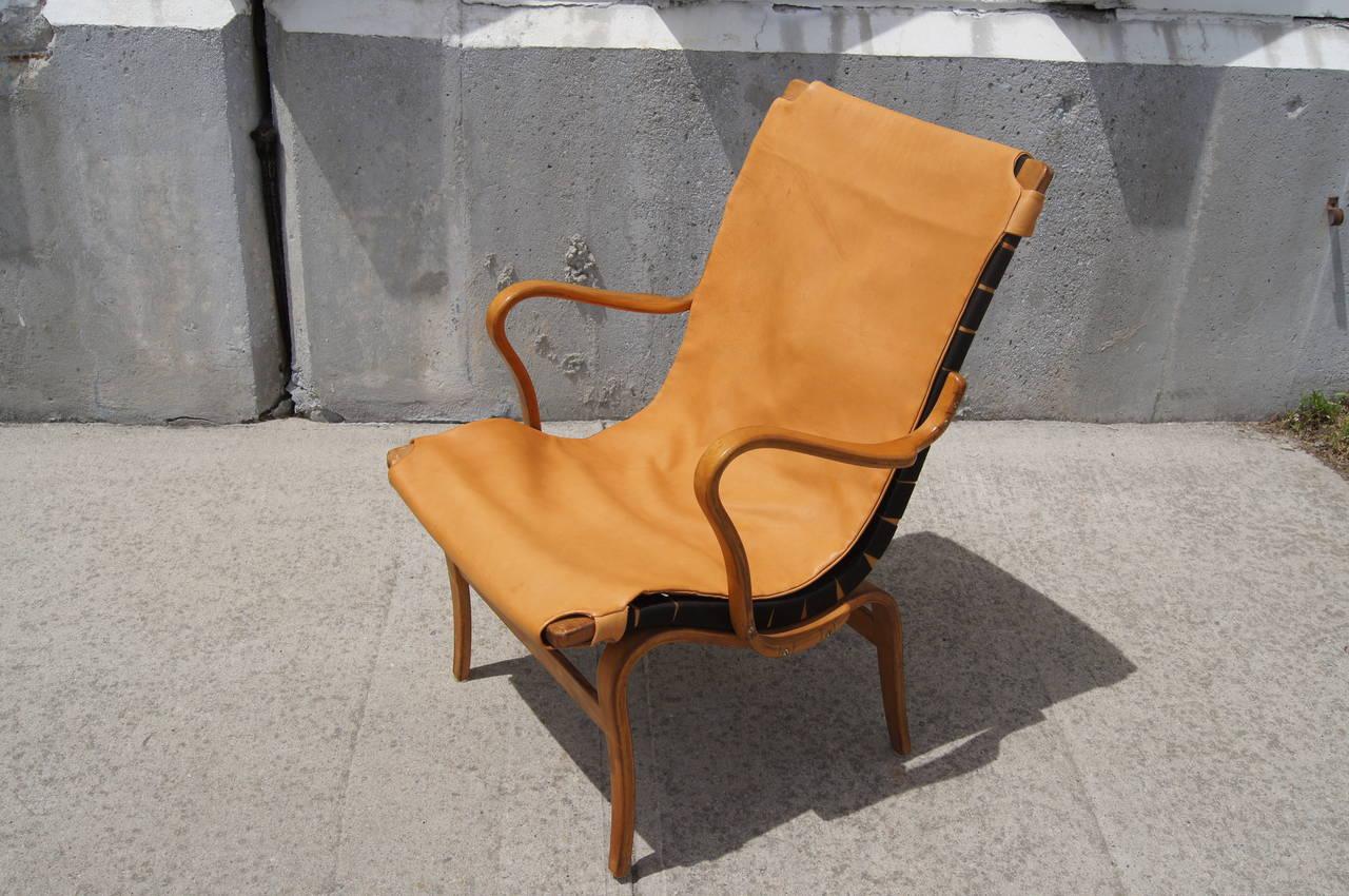 Cotton Eva Armchair by Bruno Mathsson For Sale