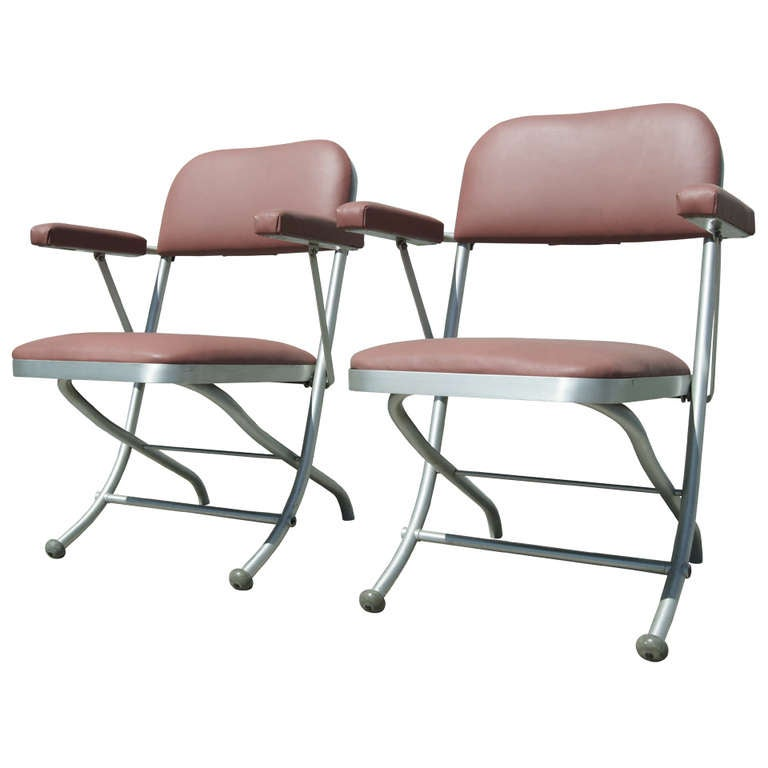 Pair of Folding Chairs by Warren McArthur For Sale