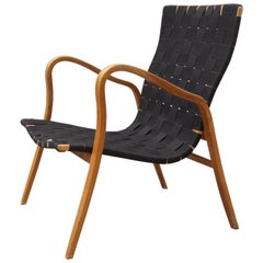 Birch Bentwood Easy Chair by Gustav Axel Berg