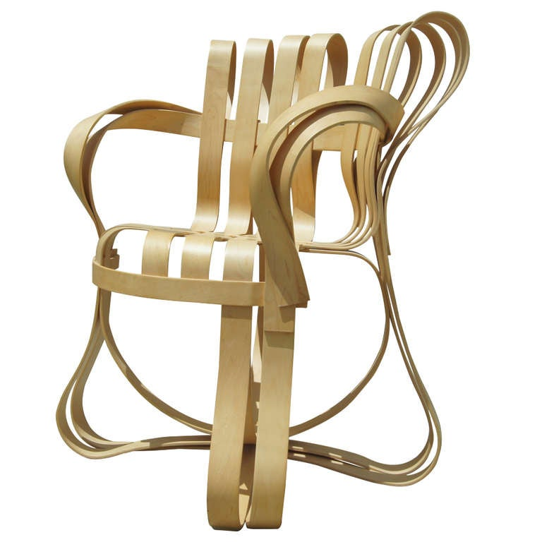 Cross Check Bent Plywood Arm Chair By Frank Gehry For Knoll At 1stdibs