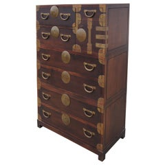 Campaign Style Chest of Drawers by John Stuart